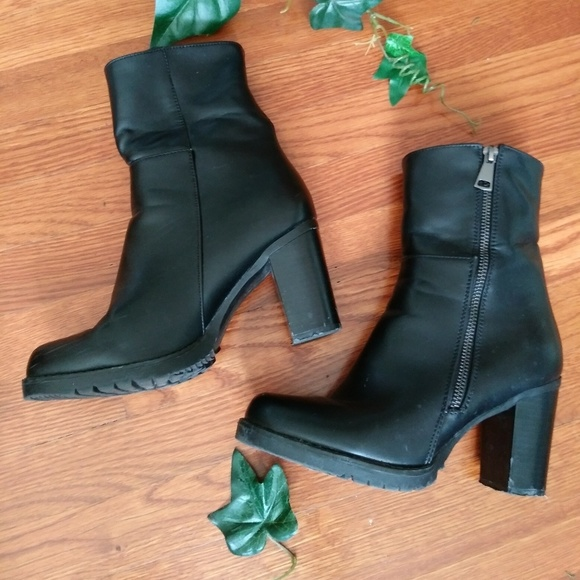 Black Boots 1 12 Inch Heel | Poshmark